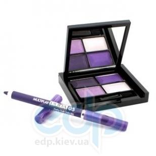 Pupa - Smoky Eyes Kit Фиолетовый - Набор для макияжа (Тени для век 4-цветные 4Eyes Palette Ombretti Multiuso 23 6 g + Карандаш для глаз Multiplay 05 Темно-лиловый 0.8 g)