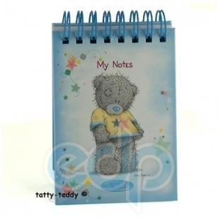 Teddy MTY (мишки) Блокнот MTY (Me To You) -  маленький на спирали (голубой) (арт. G01S0293)