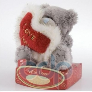 Teddy MTY (мишки) Игрушка плюшевый мишка MTY (Me To You) -  держит красное сердце Love You 7.5 см (арт. G01W0407)