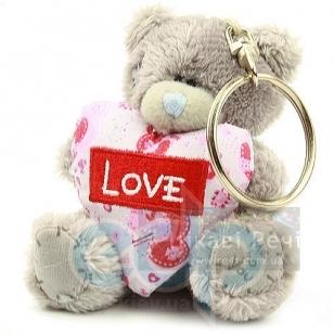 Teddy MTY (мишки) Брелок MTY (Me To You) -  плюшевый мишка держит сердце Love 7.5 см (арт. G01W1118)