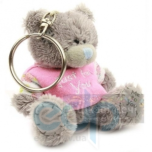 Teddy MTY (мишки) Брелок MTY (Me To You) -  плюшевый мишка в розовой футболке Just For You 7.5 см (арт. G01W1119)