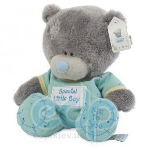 Teddy MTY (мишки) Игрушка плюшевый мишка MTY (Me To You) -  Tiny Tatty Teddy в голубых ползунках 20 см (арт. G92W0014)