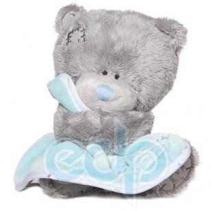 Teddy MTY (мишки) Игрушка плюшевый мишка MTY (Me To You) -  Tiny Tatty Teddy с голубым одеялом 15 см (арт. G92W0016)