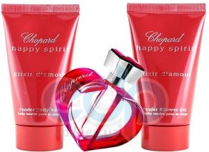 Chopard Happy Spirit Elixir dAmour - Набор (парфюмированная вода 75 ml + лосьон-молочко для тела 50 ml + гель для душа 50 ml)