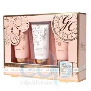 Grace Cole - Набор Bathing Trilogy (гель для душа 50 ml + лосьон для тела 50 ml + пена для ванны 50 ml) с ароматом розы и жасмина