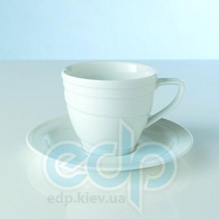 Berghoff -  Чашка для чая с блюдцем фарфоровая Hotel -  265 мл (арт. 1690100)