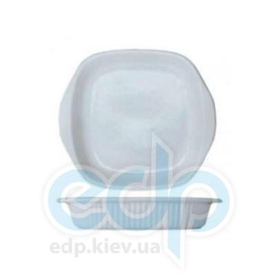 Berghoff -  Квадратная плоская фарфоровая форма для выпечки Bianco -  24х21х4 см (арт. 1691114)