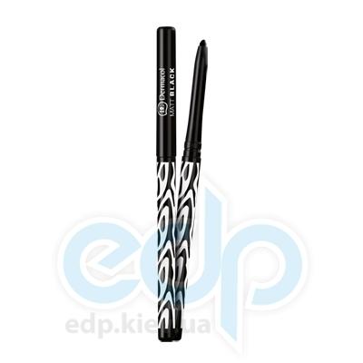 Dermacol Black Sensation Карандаш для глаз матовый автоматический Matt black (черный) - 0.35 gr (6816)