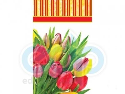 Пакет бумажный Sabona - Тюльпаны 25.5x15x7.5