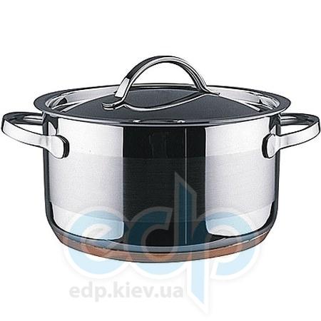 Vinzer (посуда) Vinzer -  Кастрюля - нержавеющая сталь, диаметр 16см, 1,8л, медное дно (арт. 69085)