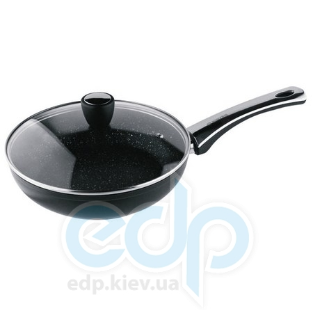 Vinzer (посуда) Vinzer -  Сковорода с керамическим покрытием Granite Induction line с крышкой - диаметр 24см.  (арт. 89434)