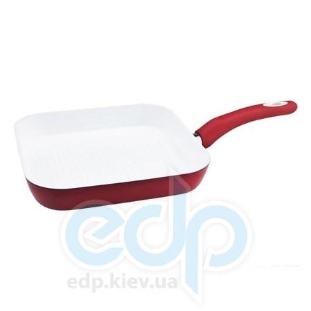 Vinzer (посуда) Vinzer -  Сковорода - гриль Eco Ceramic Induction Line  -  26х26 см (арт. 89467)