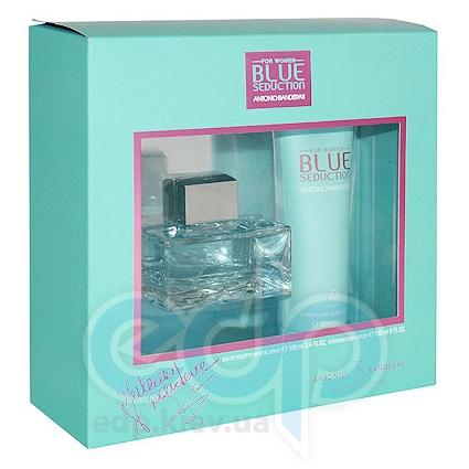 Antonio Banderas Blue Seduction for Women -  Набор (туалетная вода 100 + лосьон-молочко для тела 100)