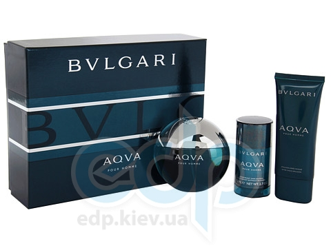Bvlgari Aqva Pour Homme -  Набор (туалетная вода 50 + гель для душа 75 + после бритья 75)