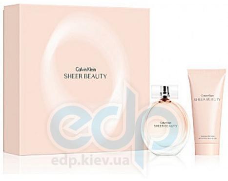 Calvin Klein Sheer Beauty -  Набор (туалетная вода 30 + лосьон-молочко для тела 100)