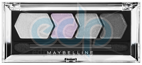 Тени для век 4-цветные компактные Maybelline - Silk Glam by EyesStudio №12 Серебристо-розовая драма - 5 g