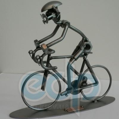 Hinz and Kunst (cтатуэтки) Статуэтки Hinz and Kunst (Германия) - Велосипедист - 20 x 22 см. (металл)