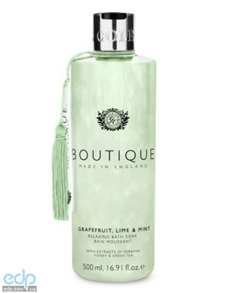 Grace Cole - Пена для ванны увлажняющая Boutique Bath Soak Grapefruit Lime & Mint - 500 ml