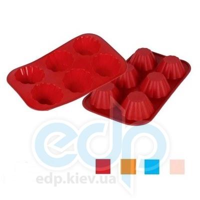 Granchio (посуда) Granchio -  Форма для маффинов Цветок  Granchio Silico Flex  6 штук размер 30х17 см (арт. 88406)
