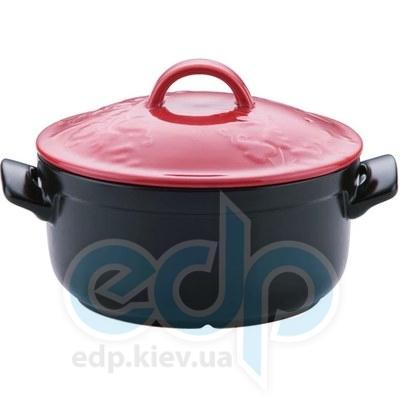 Granchio (посуда) Granchio -  Кастрюля керамическая Granchio Fiore Green Fiamma - объем 4.3 л. Диаметр 24 см. (арт. 88507)