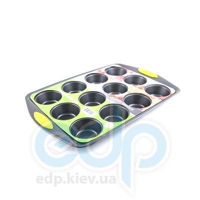 Fissman (посуда) Fissman - Формадлявыпечки 12 кексов 41x27x3.5см  (ФС5.578)