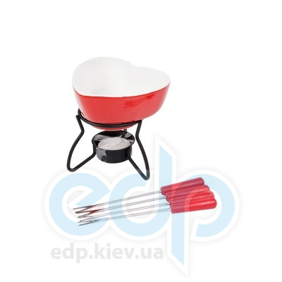 Fissman (посуда) Fissman - Набор для приготов шоколадного фондю LOVE 6 пр. (керамика)  (ФС6.302)