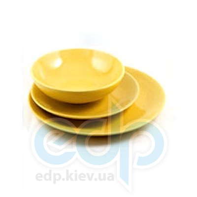 Maestro (посуда) Maestro - Тарелка обеденная керамика желтая (МР20004-18S-3ж)