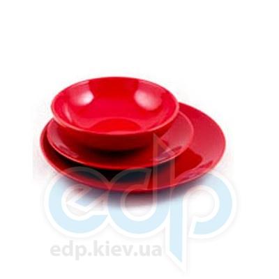 Maestro (посуда) Maestro - Тарелка обеденная керамическая красный (МР20004-18S-3к)