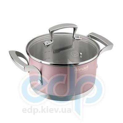 Rondell (посуда) Rondell - Кастрюля Rosso с крышкой 18см 2.0 л. (RDS-371)