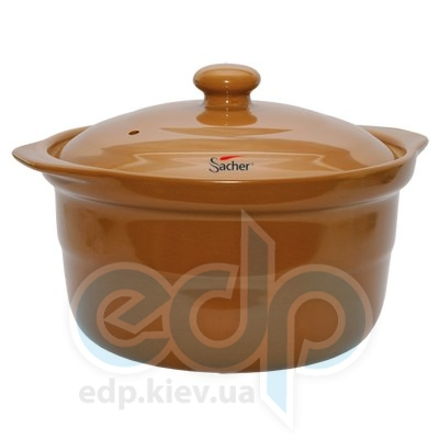 Sacher (посуда) Sacher - Кастрюля керамическая 1.2л коричневая(SHKP00070)