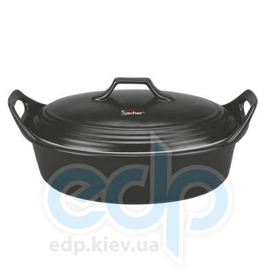 Sacher (посуда) Sacher - Утятница керамическая 3.5л черная (SHKP00085)