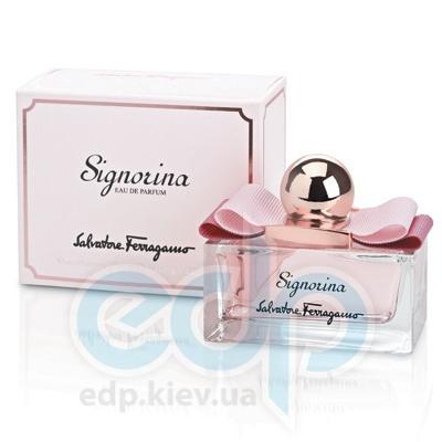 Salvatore Ferragamo Signorina -  Набор (парфюмированная вода 100 + гель для душа 50 + косметичка)