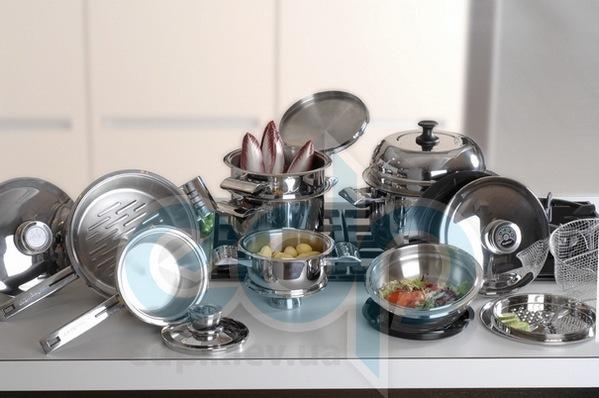 Berghoff -  Набор посуды Profi deLuxe induction (хромотаниум) -  20 предметов (арт. 1120072)