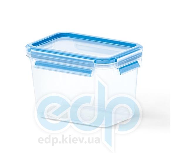Emsa - Контейнер пищевой Clip&Close - голубой объем 1.1 л прямоугольный, прозрачный (арт. 508541)