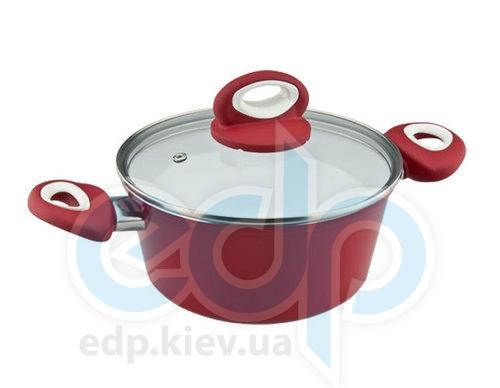 Vinzer - Кастрюля с крышкой Cast Eco Ceramic Induction Line - объем 4.6 л диамеAтр 24 см (арт. 89469)