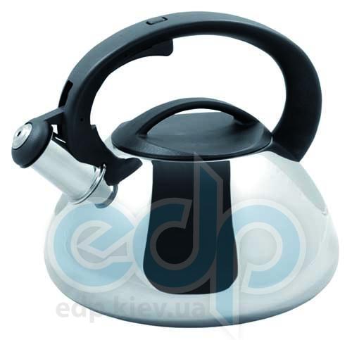 Vinzer (посуда) Vinzer -  Чайник SFERA - нержавеющая сталь, 2,6 л, свисток (арт. 89013)