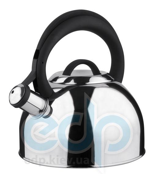 Vinzer (посуда) Vinzer -  Чайник BASEL - нержавеющая сталь, 2,6 л, свисток (арт. 89016)