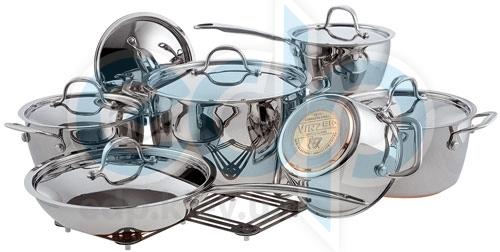 Vinzer (посуда) Vinzer -  Набор посуды PROFESSIONAL - 13 предметов, медное термоаккумулирующее пятислойное дно (арт. 69021)