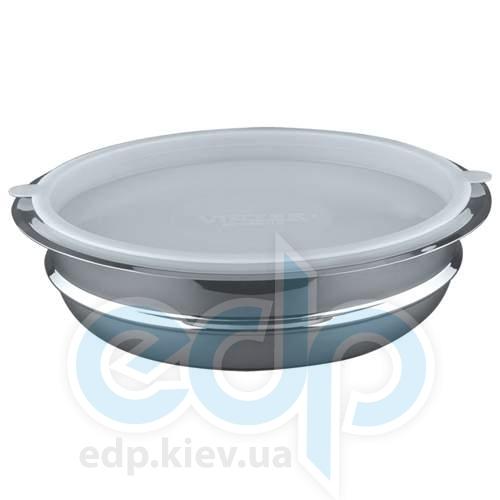 Vinzer - Салатница с крышкой - нержавеющая сталь, 3,5 л, (арт. 89211)