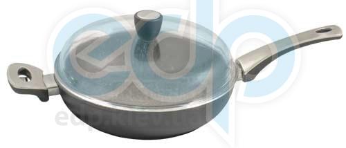 Vinzer (посуда) Vinzer -  Сковорода Granite line, 28cm - диаметр 28см, покрытие Vinzer Granite, крышка-стекло Pyrex (арт. 69454)