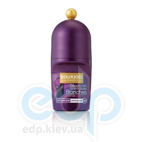 Дезодорант для тела шариковый не оставляющий белых следов 48ч действия Bourjois - Deodorant Roll-On Anti Traces Blanches 48h - 50 ml (350108)