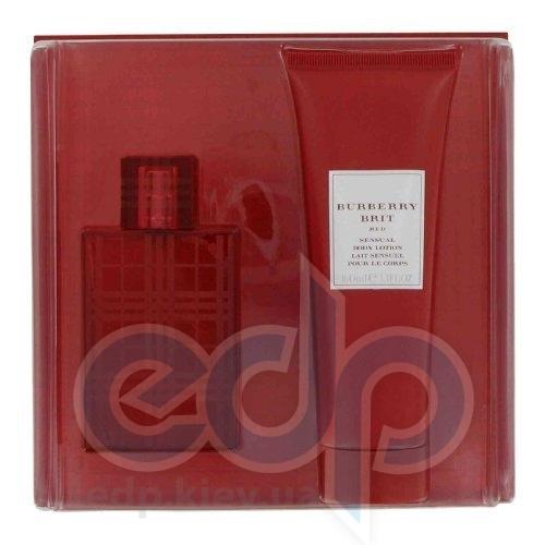 Burberry Brit Red -  Набор (туалетная вода 100 + лосьон-молочко для тела 100)