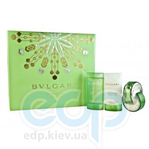 Bvlgari Omnia Green Jade -  Набор (туалетная вода 40 + лосьон-молочко для тела 75 + гель для душа 75)