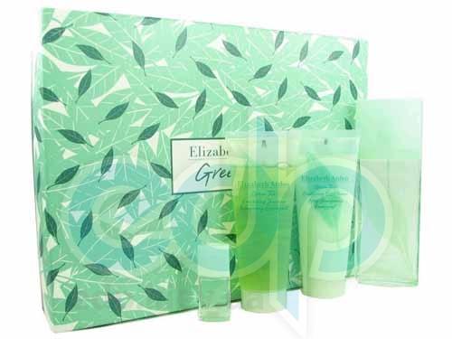 Elizabeth Arden Green Tea -  Набор (парфюмированная вода 100 + лосьон-молочко для тела 100 + гель для душа 100 + mini)