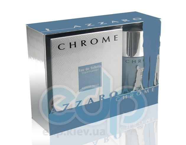 Azzaro Chrome -  Набор (туалетная вода 50 + дезодорант стик 75)
