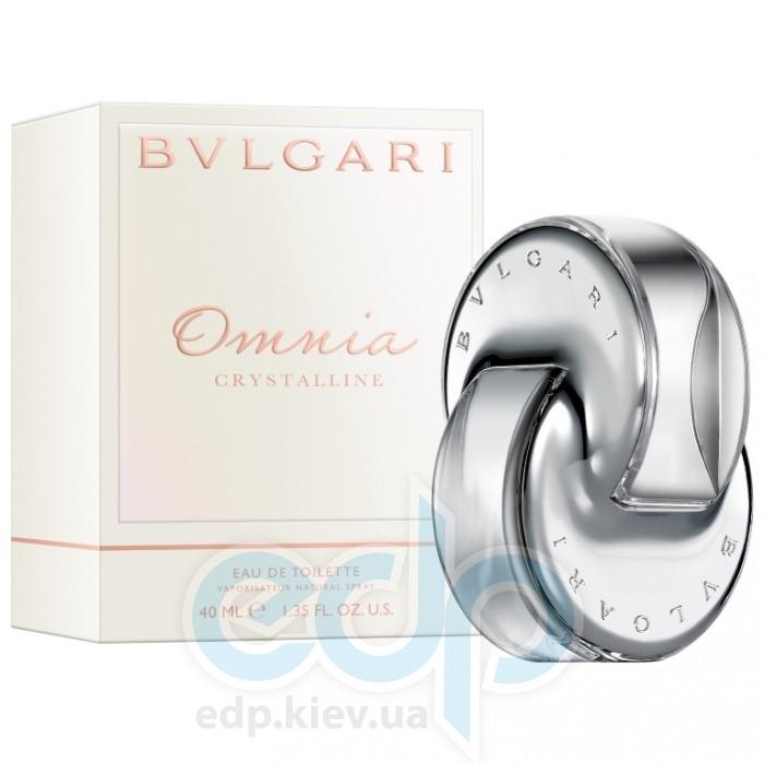 Bvlgari Omnia Crystalline - Набор (туалетная вода 65 + лосьон-молочко для тела 75 + косметичка)
