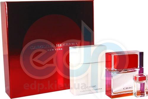 Carolina Herrera Chic -  Набор (парфюмированная вода 50 + лосьон-молочко для тела 100 + mini)