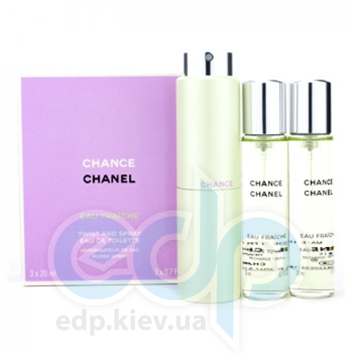 Chanel Chance Eau Fraiche - туалетная вода -  3x20 ml Refill