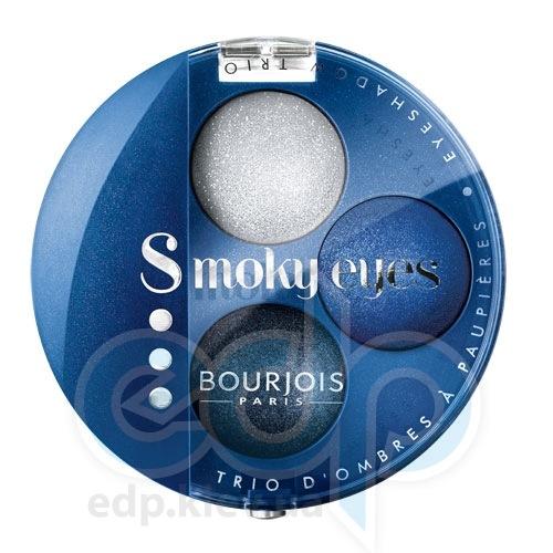 Тени для век 3-цветные компактные Bourjois - Smoky Eyes №15 Темно-синий - 4.5 g