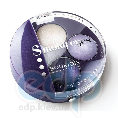 Тени для век 3-цветные компактные Bourjois - Smoky Eyes №06 Фиолетовый - 4.5 g